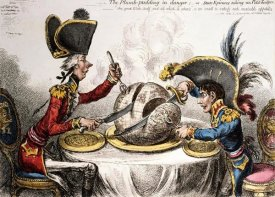 James Gillray - The Plum Pudding In Danger