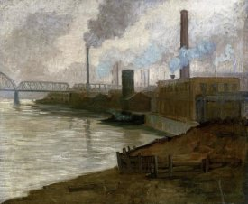 Aaron Henry Gorson - Industrial Scene - Mills on The Monongahela