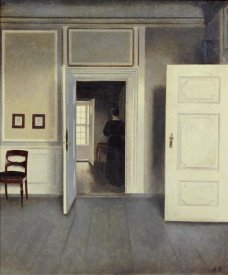 Vilhelm Hammershoi - A Woman In An Interior