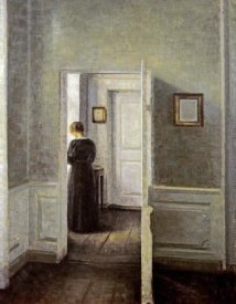 Vilhelm Hammershoi - An Interior With a Woman