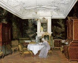 Adolf Heinrich Claus Hansen - A Lady In An Interior, Fredensborg