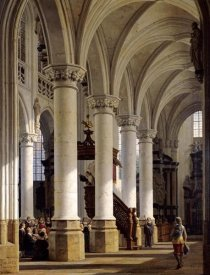 Heinrich Hansen - A Church Interior
