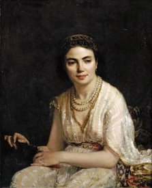 Alexei Alexeiewitsch Harlamoff - Portrait of a Woman Wearing a Pearl Necklace