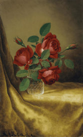 Martin Johnson Heade - Roses In a Crystal Goblet