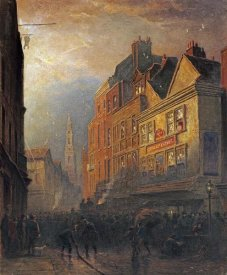 Henry George Hine - A Fire In Drury Lane