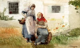 Winslow Homer - Picking Flowers