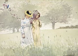 Winslow Homer - Girls Strolling In An Orchard