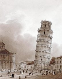Jean-Baptiste Isabey - The Leaning Tower