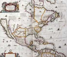 Joannes Janssonius - Map of North America, 1641