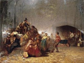 Eastman Johnson - The Party In The Maple Sugar Camp
