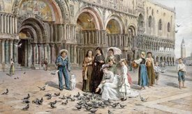 George Goodwin Kilburne - The Pigeons of St. Mark's, Venice