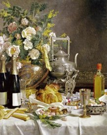 Jules Larcher - Bottles of Champagne Bread Biscuits and Cakes