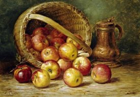 August Laux - A Basket of Apples