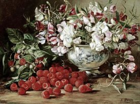 August Laux - Raspberries and Sweet Pea