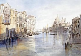 Edward Lear - The Grand Canal, With Santa Maria Della Salute, Venice, Italy