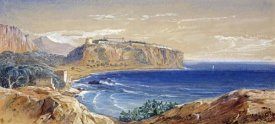 Edward Lear - Monaco From Cap D'ail