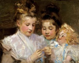 Frederic William MacMonnies - Berthe and Marjorie With Their Doll
