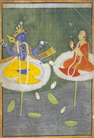 Mankot - Krishna and Tadha Enthroned