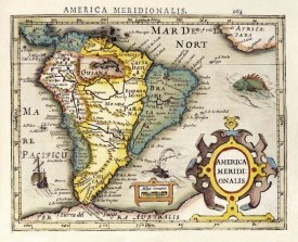 Gerard Mercator - Map of South America