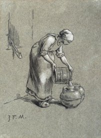 Jean-Francois Millet - Woman at a Well