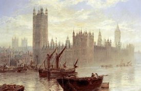 Claude T Stanfield Moore - Westminster From The Thames