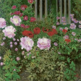 Koloman Moser - Flowers and Garden Fence