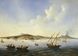 Neapolitan School - Fishing Boats In The Bay of Naples