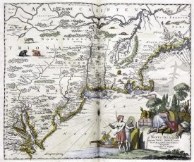 John Ogilby - Map of The New World