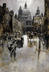 Joseph Pennell - West Front of St Paul's From Ludgate Hill