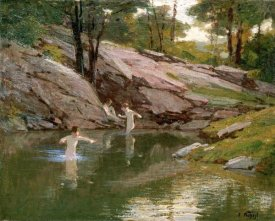 Edward Henry Potthast - The Swimming Hole