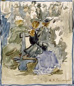 Maurice Brazil Prendergast - Ladies Seated on a Bench