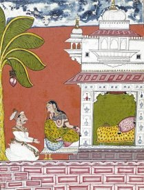 Ramkali Ragini - A Lady Seated Outside Her Bedchamber