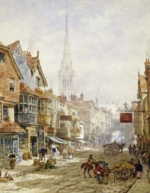 Louise Rayner - The High Street, Salisbury