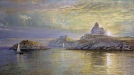 William Trost Richards - Harbor Entrance on Bull Point, Newport, Rhode Island