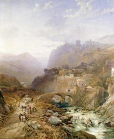 Thomas Miles Richardson - Figures on The Road Below Fort Leon, Sicily