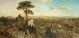 David Roberts - Rome - Sunset From The Convent of San Onofrio
