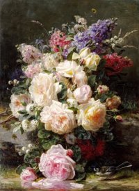 Jean-Baptiste Robie - Still Life With Roses