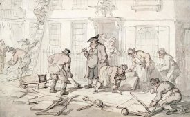 Thomas Rowlandson - Labourers Putting Down a Pavement