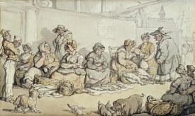 Thomas Rowlandson - The Fish Market, Grimsby