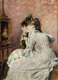 Alfred Stevens - Admiring The Portrait