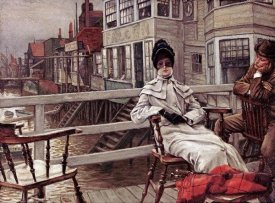 James Jacques Tissot - Waiting For The Boat at Greenwich