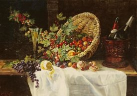 Gertrud Trefftz - Cherries and Gooseberries In a Basket