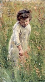 Bertha Wegmann - Picking Flowers