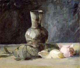 Julian Alden Weir - Vase and Roses