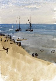 James McNeill Whistler - Green and Silver - The Bright Sea, Dieppe