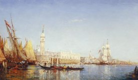 Felix Francois Georges Philibert Ziem - The Grand Canal, Venice