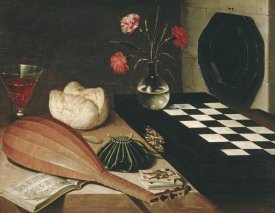Lubin Baugin - Still Life with a Chess-Board