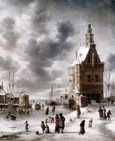 Jan Abrahamz Beerstraaten - Town Gate of Hoorn