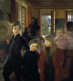Albert Besnard - A Family or the Artist's Family
