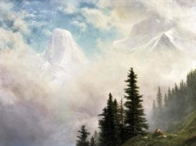 Albert Bierstadt - High in the Mountains